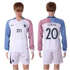 European Cup 2016 France away long sleeve 20 Coman soccer jerseys