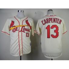 MLB St.Louis Cardinals 13 Matt Carpenter cream Jersey