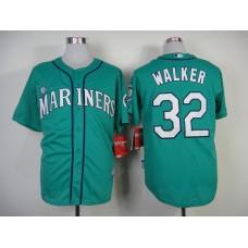 MLB Seattle Mariners #32 Walker Green Jersey