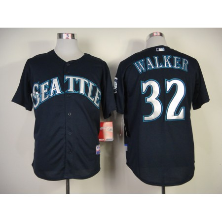 MLB Seattle Mariners #32 Walker Blue Jersey