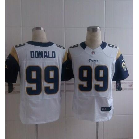 2014 Nike NFL St. Louis Rams 99 Donald white Elite Jerseys