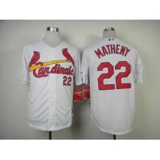 MLB St. Louis Cardinals 22 Matheny white Jersey