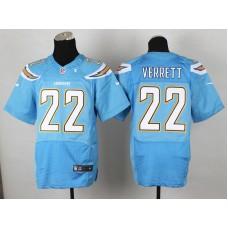 Los Angeles Chargers 22 Jason Verrett Light Blue 2014 Nike Elite Jerseys