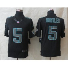Jacksonville Jaguars 5 Bortles New Nike Impact Limited Black Jerseys