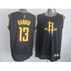 NBA Houston Rockets 13 James Harden Black Precious Metals Fashion Swingman