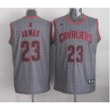 NBA Cleveland Cavaliers 23 James grey 2015 Limited Jerseys