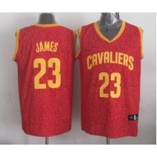 NBA Cleveland Cavaliers 23 James red Leopard grain Jerseys