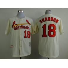 MLB St. Louis Cardinals 18 shannon beige Throwback Jerseys