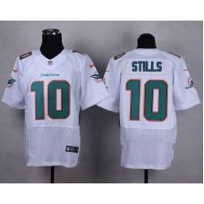 NFL Customize Miami Dolphins 10 Stills White Men Nike Elite Jerseys