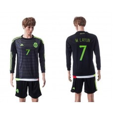 2015 Mexico Copa America 7 M.LAYUN Long Sleeve Home Jersey