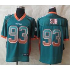 Miami Dolphins 93 Suh Drift Fashion Green 2015 New Nike Elite Jerseys
