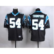 Carolina Panthers 54 Thompson Black New 2015 Nike Elite Jersey