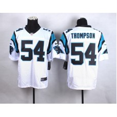 Carolina Panthers 54 Thompson White New 2015 Nike Elite Jersey