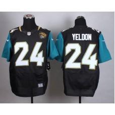 Jacksonville Jaguars 24 Yeldon Black Men Nike Elite Jerseys