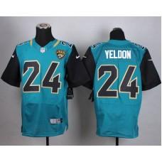 Jacksonville Jaguars 24 Yeldon Green Men Nike Elite Jerseys