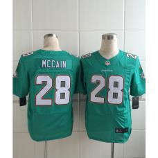 Miami Dolphins 28 Mccain Green Men Nike Elite Jerseys