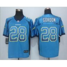 Los Angeles Chargers 28 Gordon Drift Fashion Blue 2015 New Nike Elite Jerseys