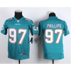 Youth Miami Dolphins 97 Phillips Green 2015 New Nike Jerseys