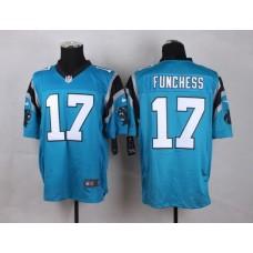NFL Customize Carolina Panthers 17 Funchess Blue Men Nike Elite Jerseys