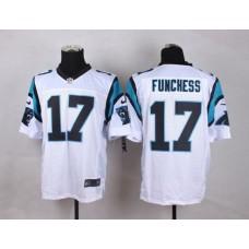 NFL Customize Carolina Panthers 17 Funchess White Men Nike Elite Jerseys