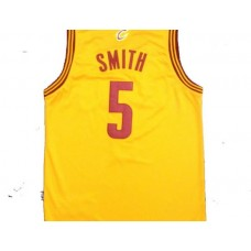 NBA Cleveland Cavaliers 5 smith Yellow New Fabric 2015 Jersey