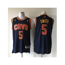 NBA Cleveland Cavaliers 5 smith blue New Fabric 2015 Jersey