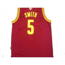 NBA Cleveland Cavaliers 5 smith red New Fabric 2015 Jersey