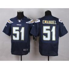 Los Angeles Chargers 51 Emanuel Blue Men Nike Elite Jerseys