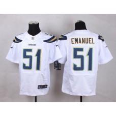 Los Angeles Chargers 51 Emanuel White Men Nike Elite Jerseys