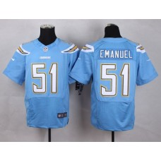 Los Angeles Chargers 51 Emanuel baby Blue Men Nike Elite Jerseys
